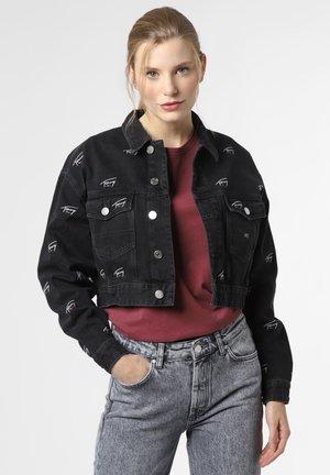 BOXY FIT - Denim jacket - schwarz
