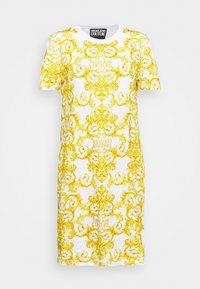 Versace Jeans Couture - LADY DRESS - Žerzejové šaty - optical white - 5