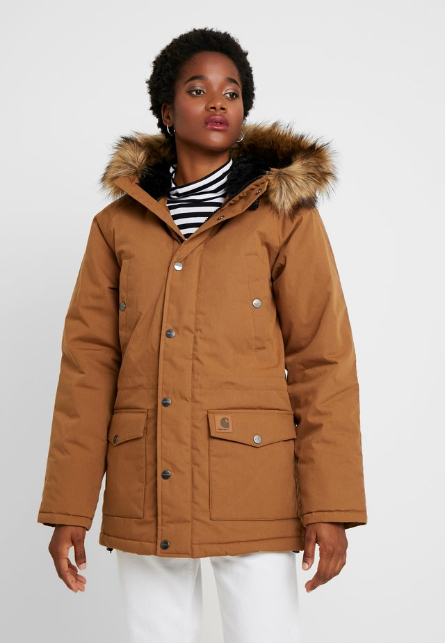 TRAPPER - Abrigo de invierno - hamilton brown/black