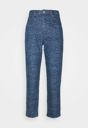 TAIKI PRINTED - Straight leg jeans - blue medium dusty