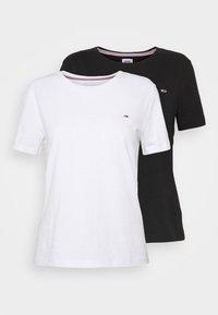 SOFT TEE 2 PACK  - Print T-shirt - black/white