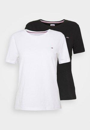 SOFT TEE 2 PACK  - Triko spotiskem - black/white