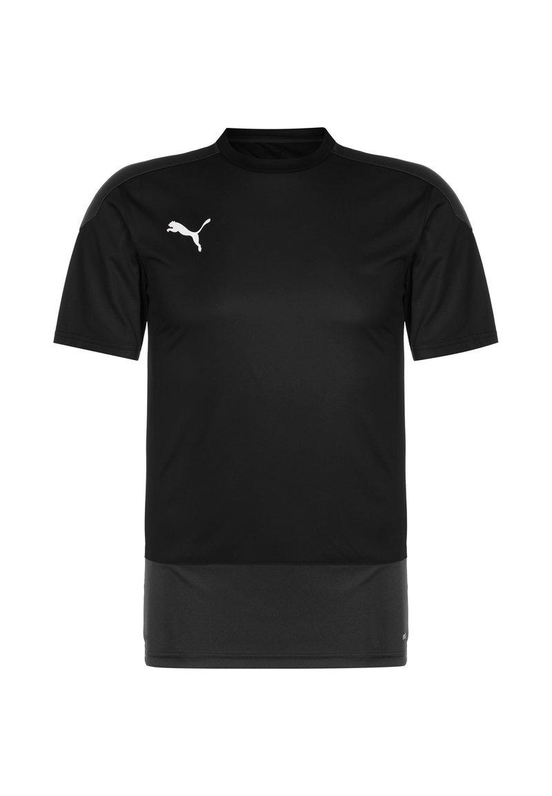 Puma - TEAMGOAL 23 TRAININGSSHIRT HERREN - Print T-shirt - black / asphalt