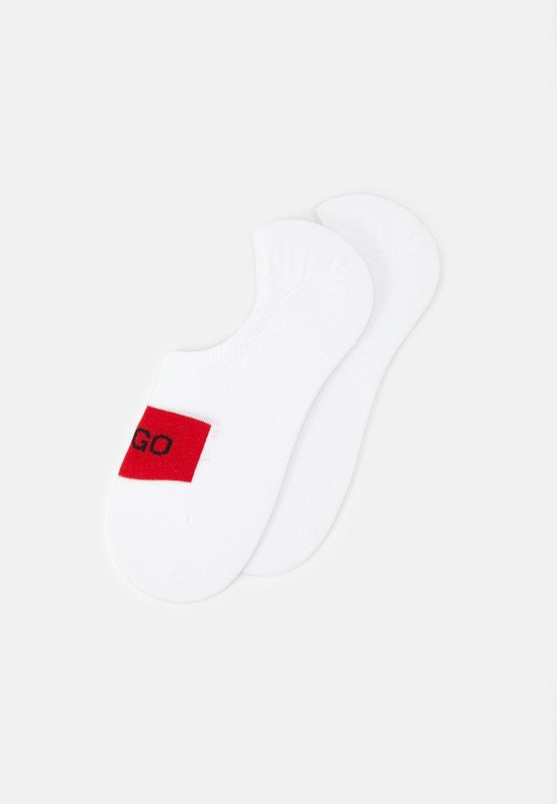 HUGO - LOW CUT LABEL 2 PACK - Sportovní ponožky - white