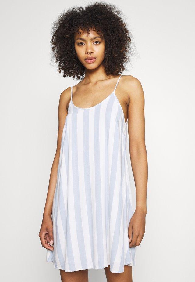 STRIPE EASY SHIFT - Denní šaty - blue