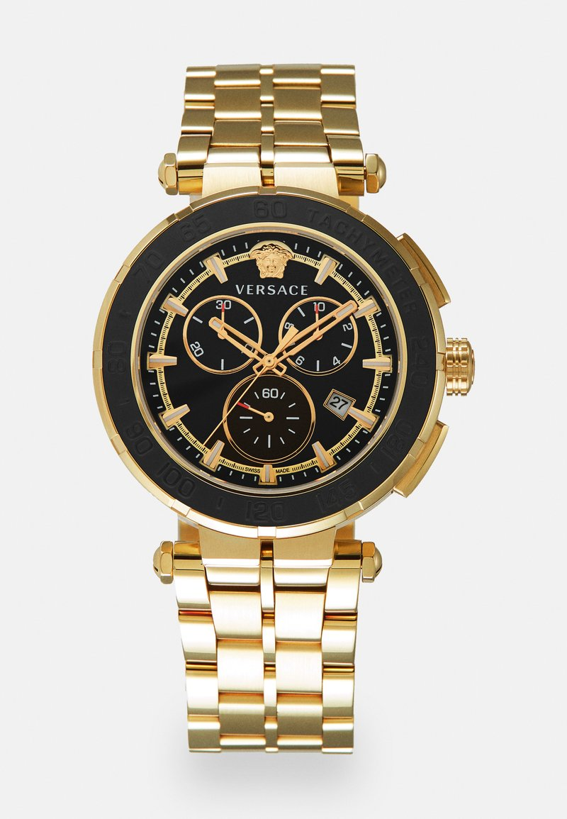 Versace Watches - GRECA - Chronograph watch - gold-coloured/black
