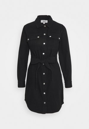 SIMONE LONG SLEEVE DRESS - Jeanskjole / cowboykjoler - black
