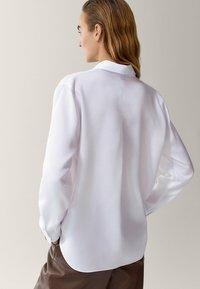 Massimo Dutti - MIT ZIERFALTE - Overhemdblouse - white - 1