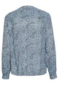 Kaffe - Button-down blouse - chambray blue, black dot - 5