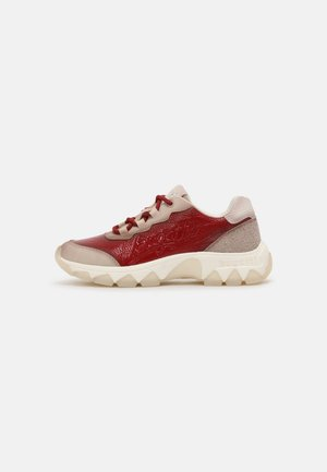 YUKI - Sneakersy niskie - beige/red