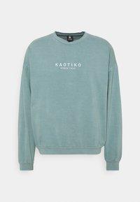 Kaotiko - CREW WASHED ALAN - Sweatshirt - aqua - 0