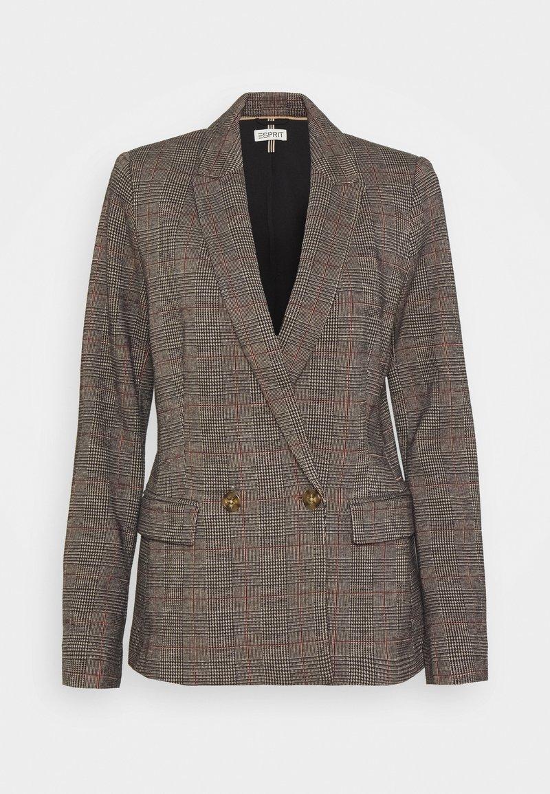 Esprit - CHECK  - Short coat - camel