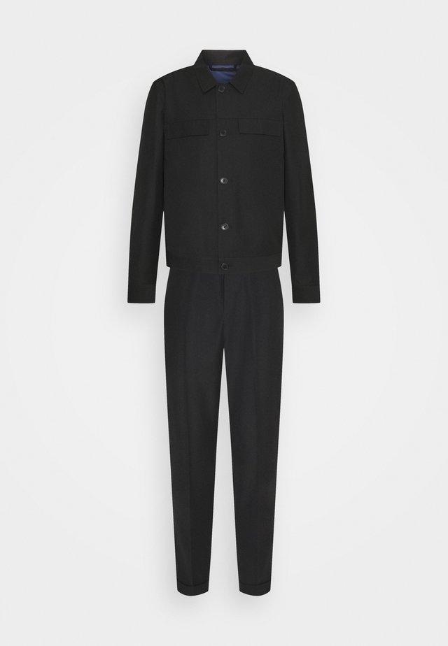 LIGHTWEIGHT WORKER JACKET AND TROUSERS - Pantalon classique - black