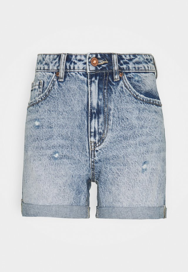VMJOANA ACID - Shorts di jeans - light blue denim