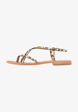 MONACLOU - T-bar sandals - brown