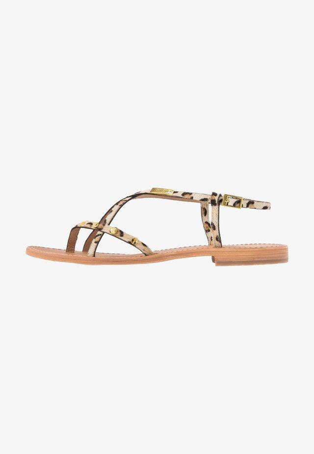 MONACLOU - Sandály s odděleným palcem - brown