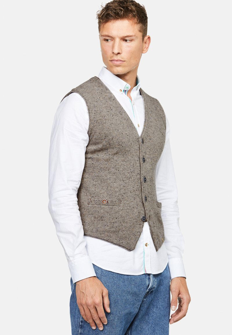 Colours & Sons - TANNER - Waistcoat - beige