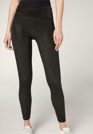 Leggings - Trousers - effetto ottico nero