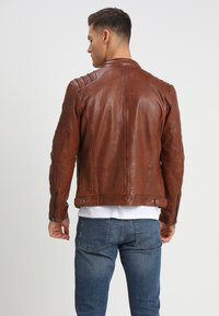 Gipsy - CAMREN LASYV - Leather jacket - cognac - 2