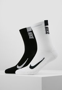 Nike Performance - 2 PACK UNISEX - Sports socks - white/black - 0
