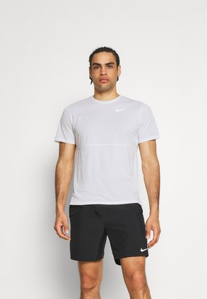 RUN TOP - Print T-shirt - white/silver