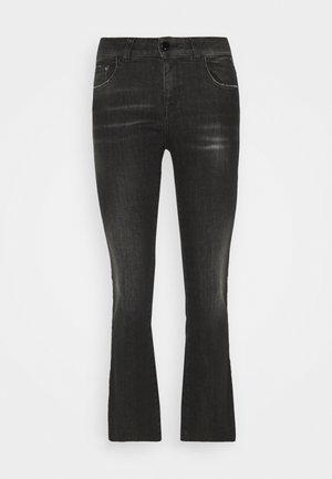 FAABY CROP PANTS - Jeans bootcut - dark grey
