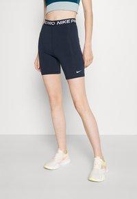 Nike Performance - SHORT HI RISE - Collants - obsidian/white - 0