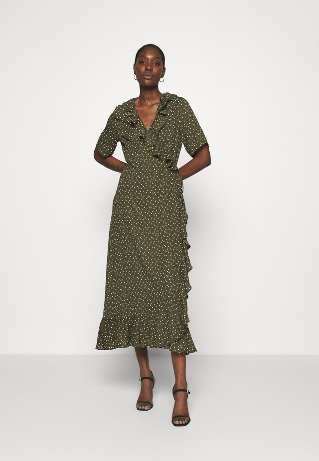 DAISY MAXI WRAP DRESS - Maxikjole - forest night