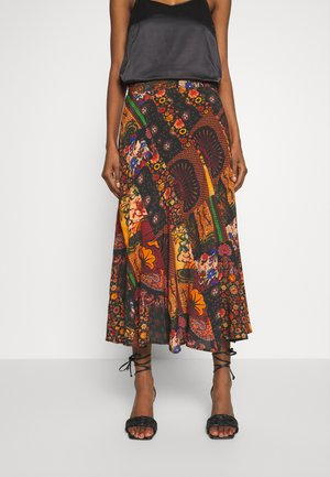 FAL ALBURY DESIGNED BY MR. CHRISTIAN LACROIX - A-line skirt - granate oscuro