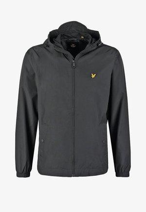 ZIP THROUGH HOODED JACKET - Lehká bunda - true black