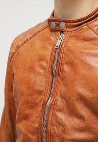 Freaky Nation - DYLAN - Leather jacket - burned orange - 4