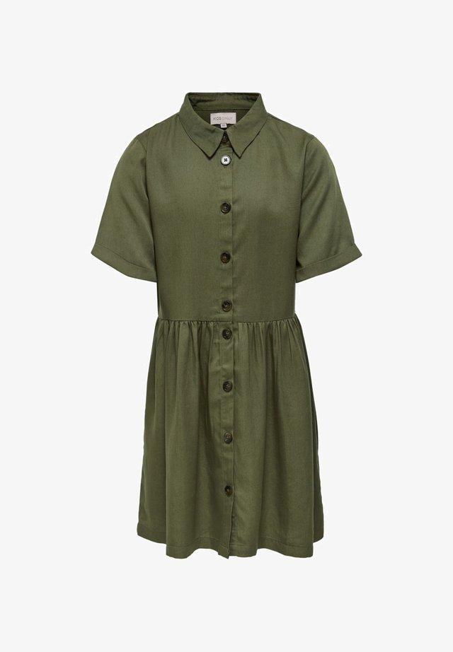 Robe chemise - martini olive