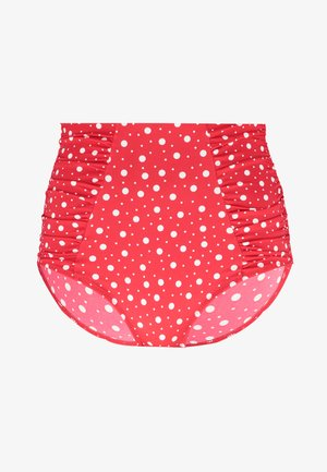 SUPER HIGH WAIST CONTROL BRIEF - Bikini bottoms - red