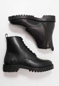 Walk London - SEAN LACE UP BOOT - Lace-up ankle boots - black - 1