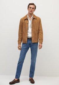 Mango - BONE-I - Leather jacket - beige - 1