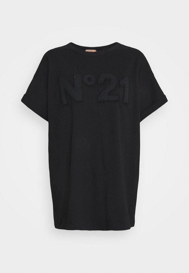 BOXY LOGO TEE - T-shirt print - black