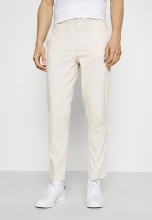 SLHSLIMTAPERED ISAC PANTS - Pantalones - safari