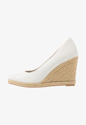 COURT SHOE - High heels - white