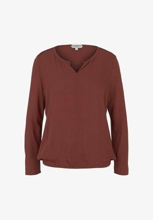 MIT LENZING(TM) ECOVERO™ - Long sleeved top - dark maroon red
