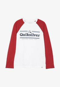 Quiksilver - GET BUZZY - Long sleeved top - white/garnet - 2