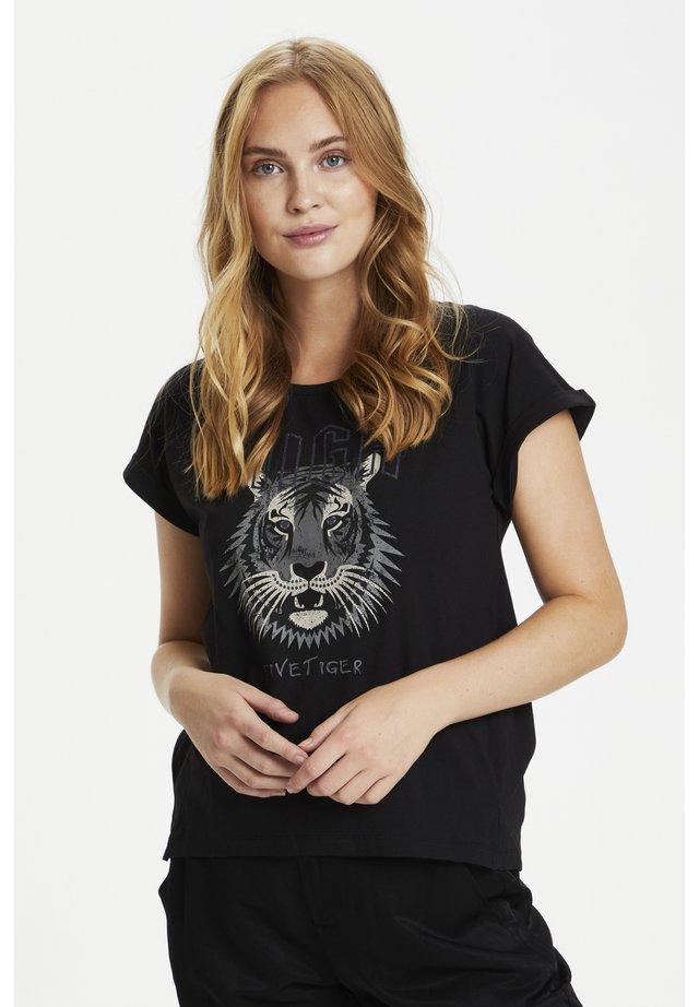 CUGEA - T-shirt z nadrukiem - black