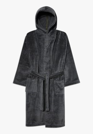 BATHROBE - Dressing gown - grey/deep khaki