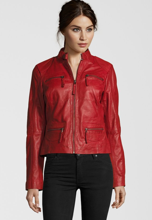 KATERINA - Leather jacket - red