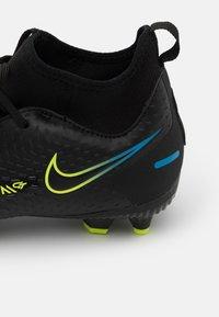 Nike Performance - JR PHANTOM GT ACADEMY DYNAMIC FIT MG UNISEX - Moulded stud football boots - black/cyber/light photo blue - 5