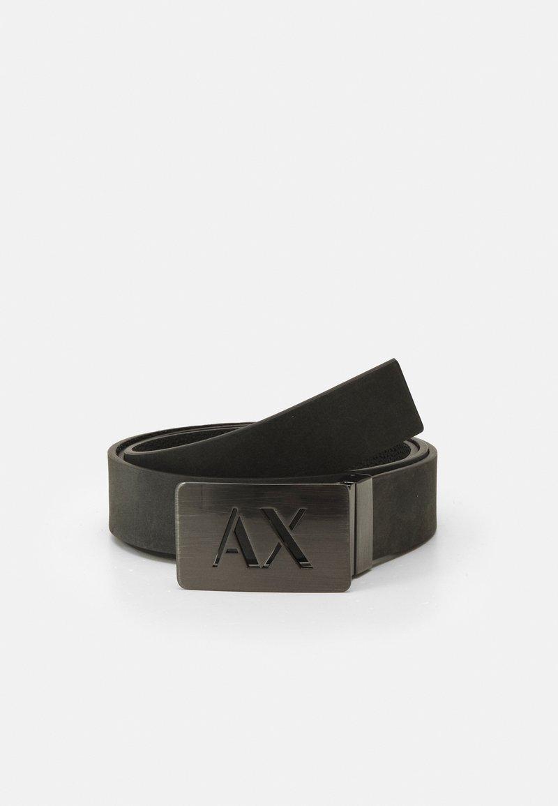 Armani Exchange - BELT - Belt - dark gray/black