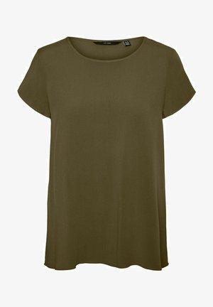 VMBECCA PLAIN - T-shirt - bas - dark olive