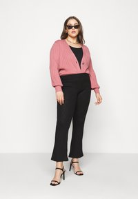 Simply Be - V NECK  - Cardigan - baked pink - 1