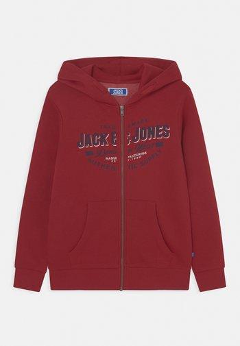 JJELOGO ZIP HOOD JR - Zip-up sweatshirt - red dahlia