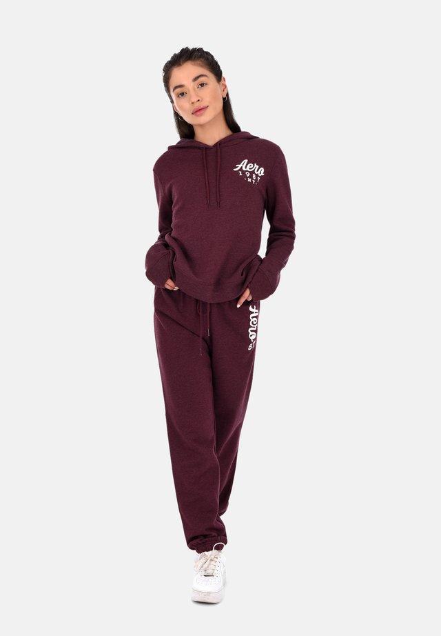 Pantaloni sportivi - burgundy