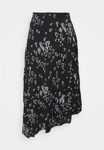 O SPRING SKIRT - A-line skirt - black/white